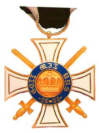 Order of the Crown 3rd class with swords