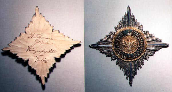 embroidered star of the House Order of the White Falcon